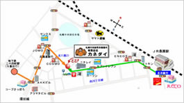 地下鉄・JRをご利用のお客様向け地図